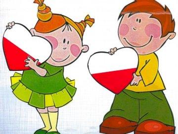 Polska dla dzieci - puzzle układanka dla dzieci poziom łatwiejszy.