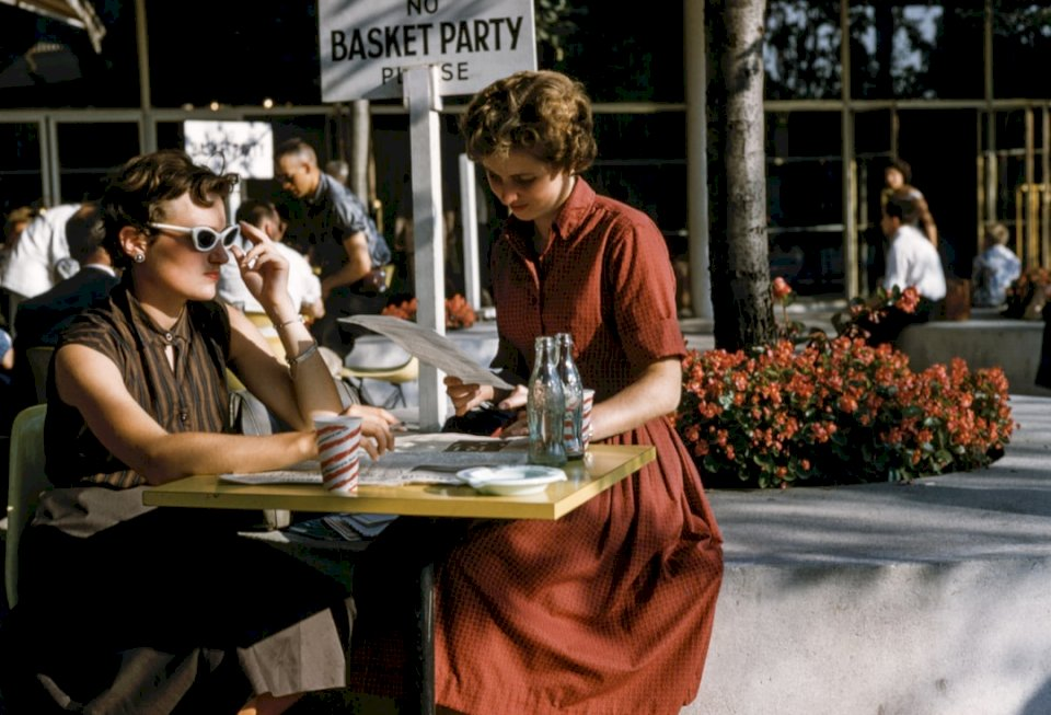 Vintage café scen