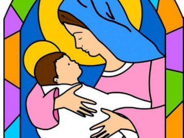 Maria, wyjątkowa kobieta - Zbuduj puzzle Marii. Zbliżenie logo.