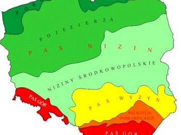 Polonia - configurazione della superficie della cinghia - Polonia - configurazione della superficie della cinghia. Una stretta di una mappa.