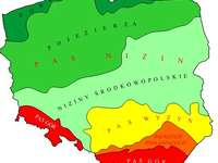 Polsko - konfigurace povrchu pásu - Polsko - konfigurace povrchu pásu. Polsko - konfigurace povrchu pásu. A zblízka mapy.