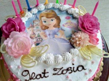 cumpleaños - pastel de cumpleaños para Zosia Kremska.