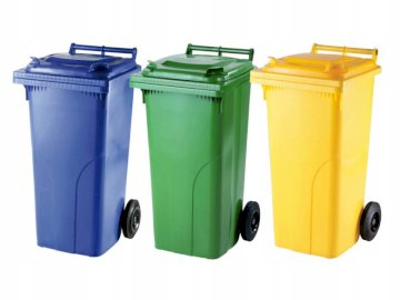 waste sorting bins - puzzles, large bins for waste segregation, for children.