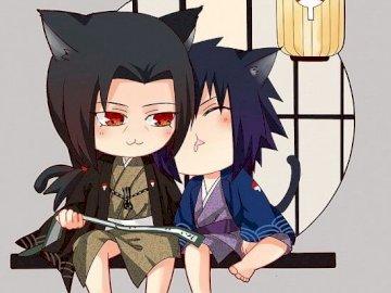 Itachi e Sasuke - Itachi e Sasuke nel simpatico neko.