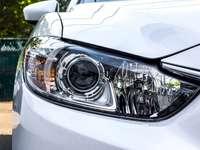 Närbild av LED-lampan på a