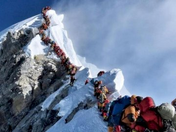 Mount everest - Very beautiful view from the crowd.