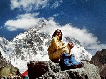 Wanda Rutkiewicz - Wanda Rutkiewicz in the mountains.