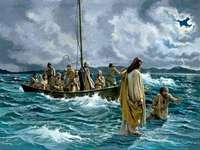 Св. Пьотр върви по водата