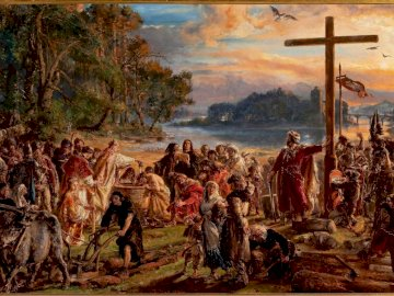 Baptism of Poland - The picture shows our nation's baptism.