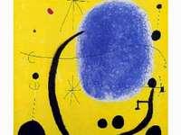 Miró Gemälde Das Gold von Blau