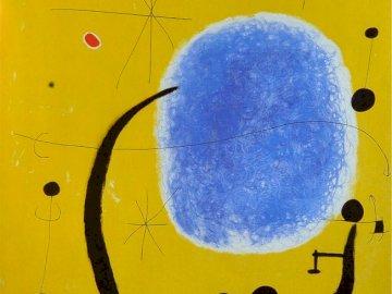 Złoto niebieskiego, Joan Miró - 4-częściowe puzzle dla dzieci.