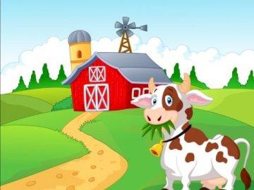 Puzzle krowa - Są to puzzle dotyczące tematyki farmy.