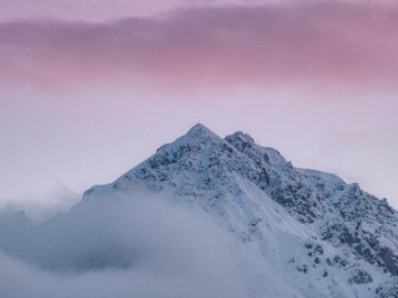 mountain - this is a beautiful puzzle of mountain. A snow covered mountain.