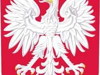 Emblème polonais - Emblème polonais. Arrangez l'emblème de la Pologne. Un gros plan d'un logo. Mettre l