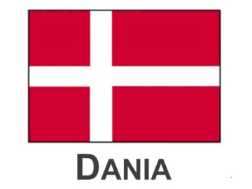 Danish flag - Arrange the puzzles to find out what the Danish flag looks like. Good luck!.