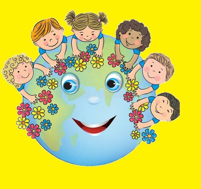 Planeta ziemia z dziećmi