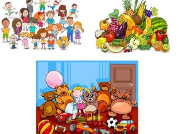 Grupy obiektów - Złóż grupy obiektów. Grupa ludzi w pokoju.