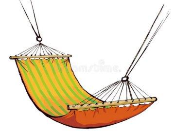 kolorowy hamak - obrazek przedstawia kolorowy hamak.