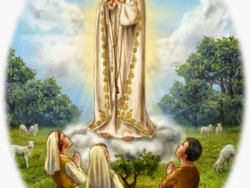 Our Lady of Fatima - Our Lady of Fatima. Jigsaw puzzle for younger children. For May time. A person standing in front of