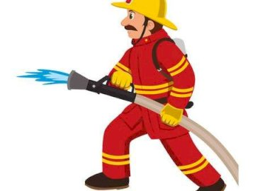 Fireman - make a firefighter out of the elements. A close up of a toy.
