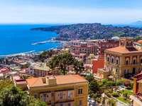 Ιταλία - Όμορφη Νάπολη - Ιταλία-Όμορφη Νάπολη. Μια άποψη μιας πόλης δίπλα σε ένα