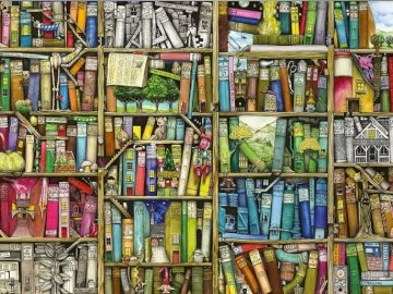 Biblioteczka. - Układanka dla dzieci: biblioteka.