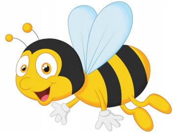bee - bee puzzle for children. A close up of a logo.