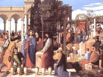 A miracle in Cana of Galilee - The biblical example of a wedding in Cana of Galilee (at which Christ the Lord was present and perfo