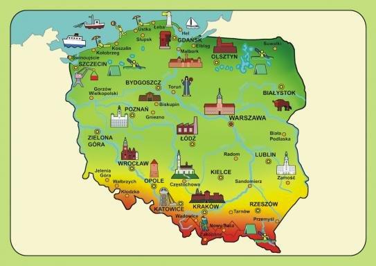 Mappa polacca - Mappa polacca per bambini. Una stretta di una mappa (4×5)