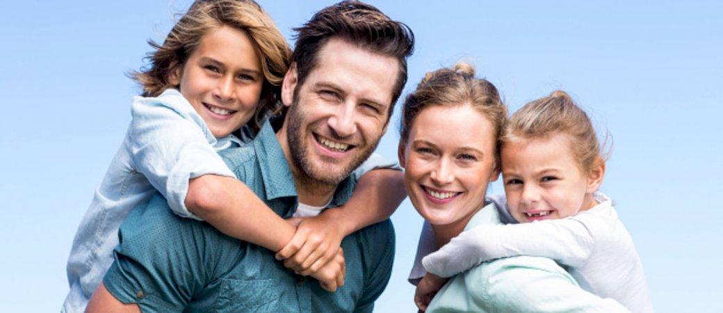 A family on a walk