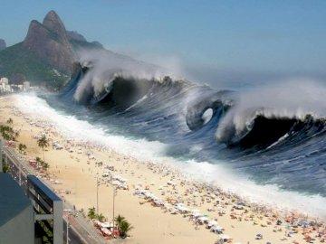 Tsunami wielka fala - Tsunami wielka fala kataklizm.