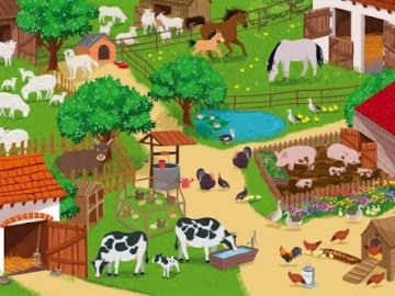 Countryside farm - Countryside puzzle.