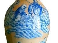 Padrões azuis de cerâmica