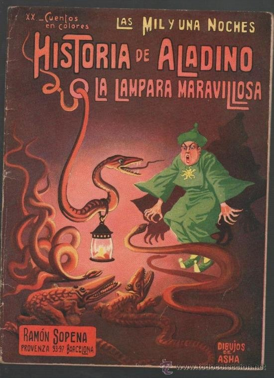 Aladdin en de duizend-en-een-nacht - Ontdekken dat het verhaal van Aladdin echt uit het boek van duizend-en-een-nacht komt (6×8)