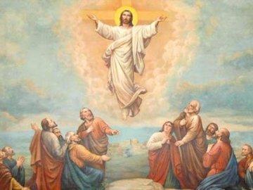 Jesus Ascension - religione, gesù, ascensione. Un dipinto di una persona.