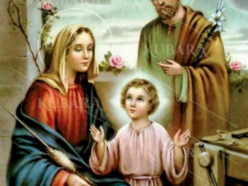 Holy Family - Arrange the puzzles you'll see a beautiful picture of the family that is a model for our fam