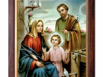 Holy Family - Arrange the puzzles and you will meet the family that is a model for our families.