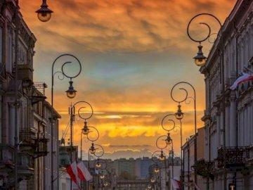 zachód słońca - koniec dzionka na Sienkiewce :).