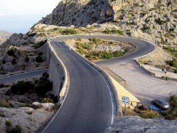 Sa Calobra Mallorca road - Sa Calobra Mallorca road. Widok na górską drogę.