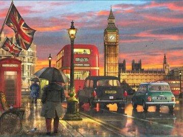 Londoner Landschaft. - Londyński krajobraz