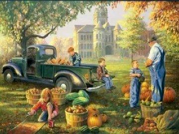 Есенна реколта. - Jesienne zbiory