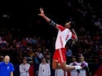 Wilfredo Leon - Wilfredo Leon - Polish representative in volleyball. A man standing in front of a crowd.