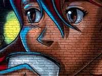 Adesivo de parede anime - desfrutando