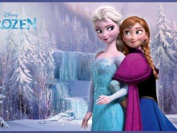 Bevroren 5/5 - Frozen (de twee zussen) in 5 kolommen, 5 regels. Toby Chu poseert voor een foto.