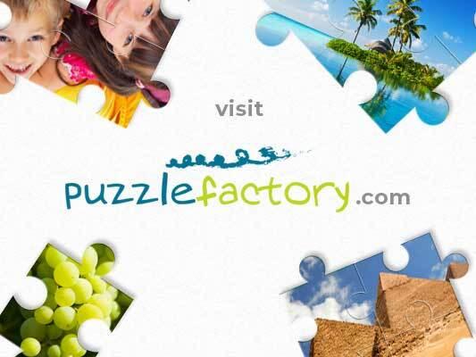 puzzle ŁĄKA - Puzzle prezentujące krajobraz łąki. Zamknięty kwiat.