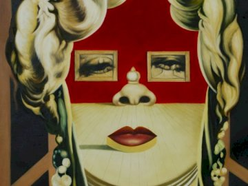 Lady museum - Dali painting (royalty free).