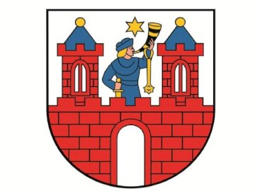 herb miasta kalisz - puzzle przedstawiające herb miasta kalisz. Rysunek postaci z kreskówek.