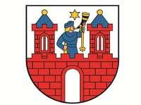wapen van de stad Kalisz - Wapen van Kalisz. Puzzels met het wapen van de stad Kalisz. Een tekening van een stripfiguur. Puzzel