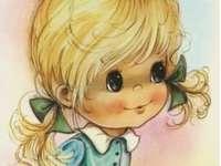 malá vykulená dívenka