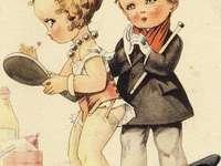 mladé děvče s podvazky